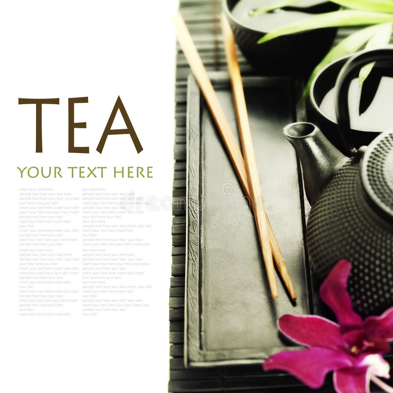 Download Green tea and chopsticks stock photo. Image of drink - 23044186