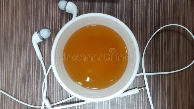 Green Tea. A cup of green tea with hands free royalty free stock images
