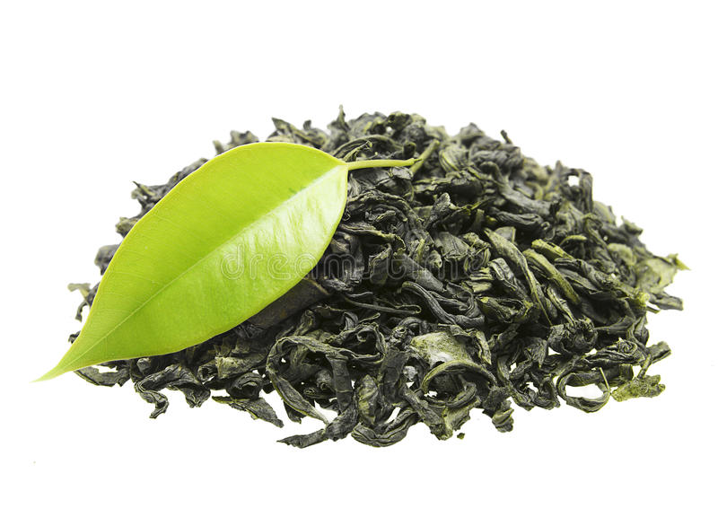 Download Green Tea With Leaf Royalty Free Stock Photo - Image: 32901635