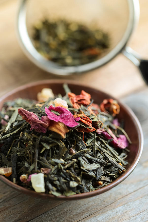 Download Green Tea Leaves stock image. Image of shot, close, traditional - 28861851