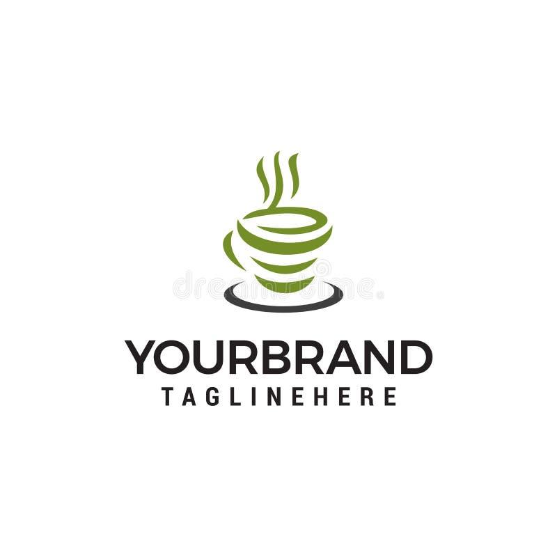 Abstract Logo Design Template . Green Tea Symbol, Natural