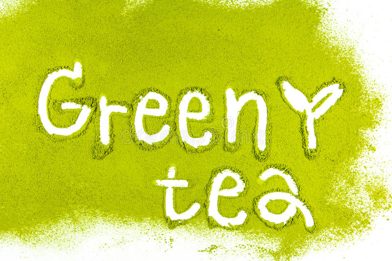 Green tea matcha with a stock images