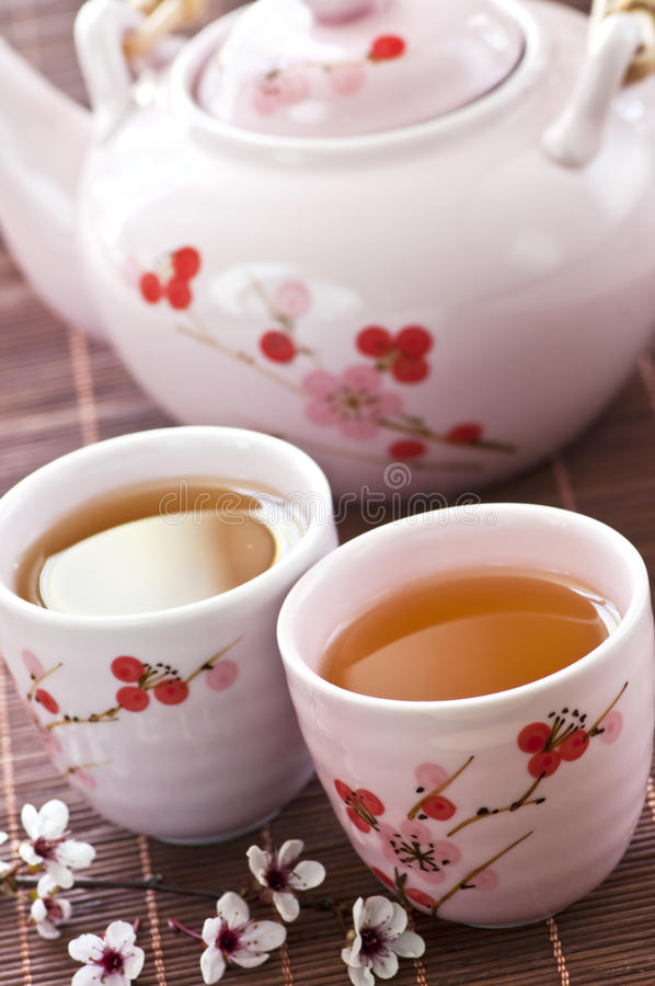 Free Green Tea Set Stock Photography - 10321632