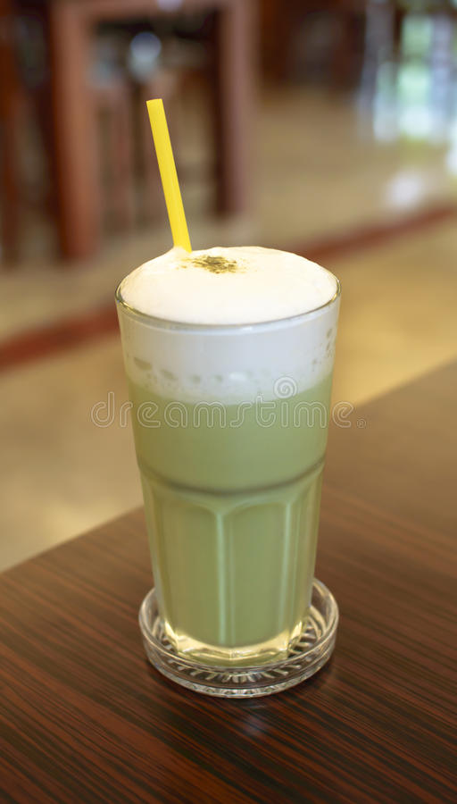 Green tea smoothies. For Health royalty free stock photo