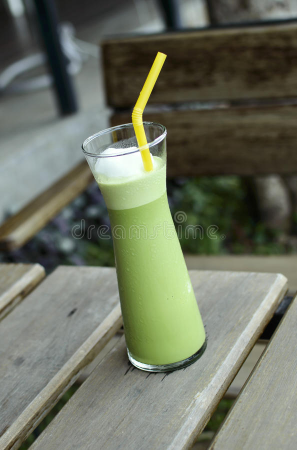 Green tea smoothies. For Health stock image
