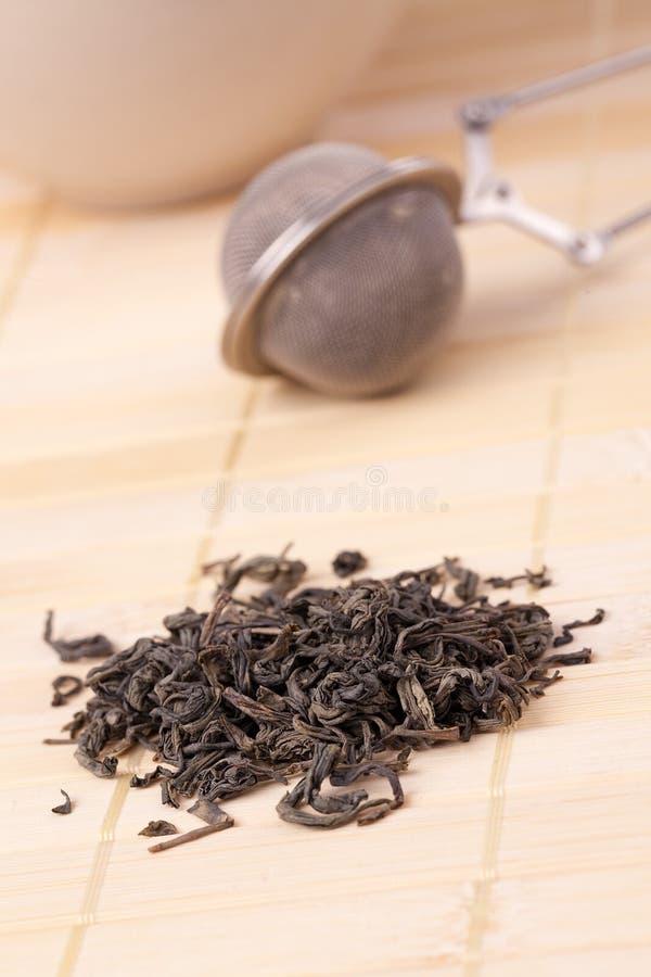 Green tea and tea strainer