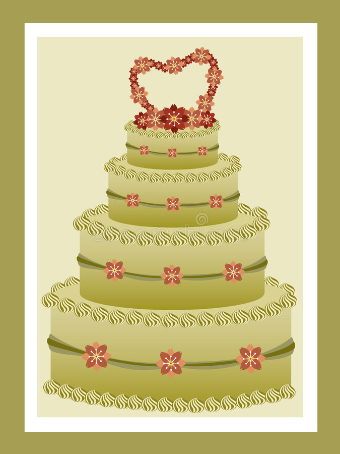 Green tea wedding cake royalty free stock photos