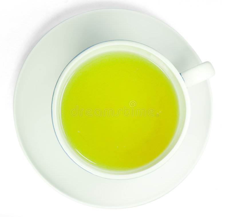 Download Green tea in a white cup stock photo. Image of medicine - 6941504