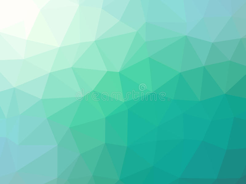Green teal gradient abstract polygonal triangular background vector illustration
