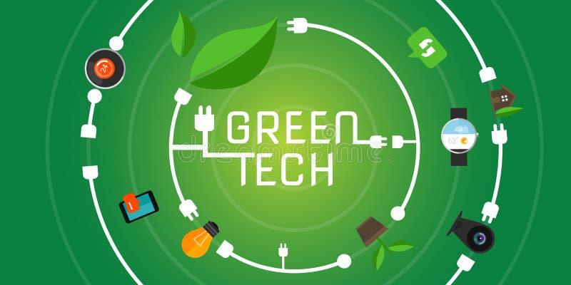 Green tech eco environment friendly technology. Vector illustration royalty free illustration