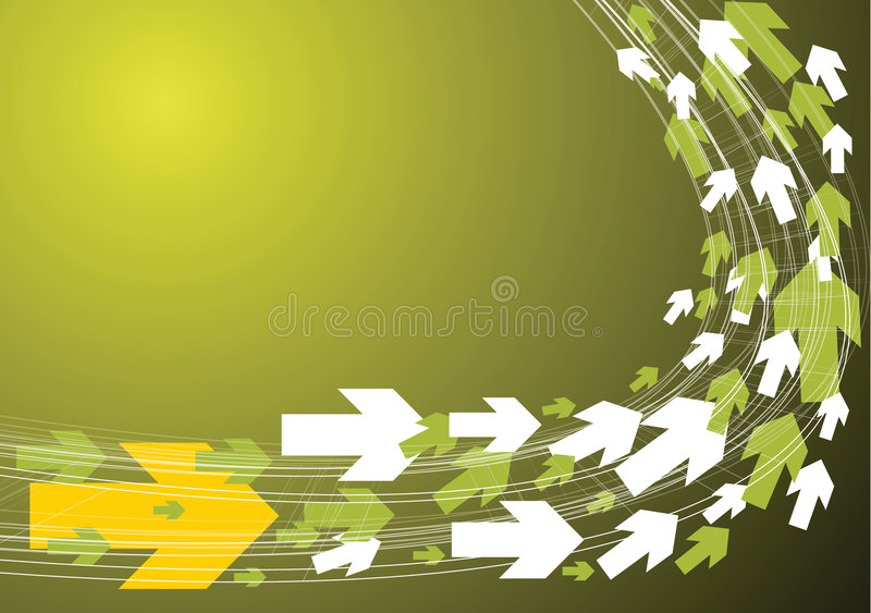 Green Technical Background Stock Photos
