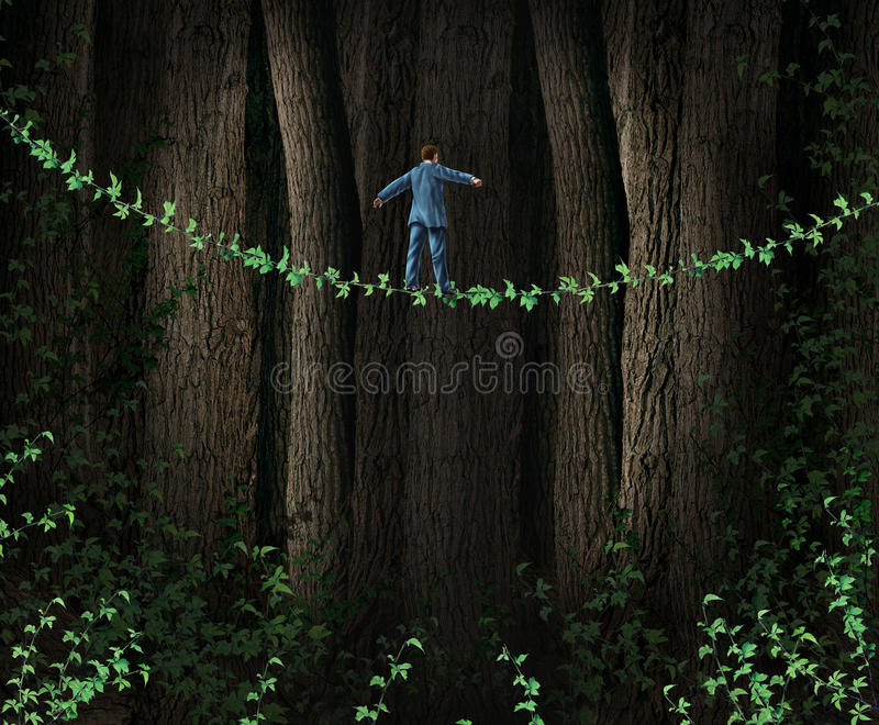 Green Technology Investing. Business concept as environmentally friendly companies supporting clean solutions for profit as a businessman walking through a stock illustration
