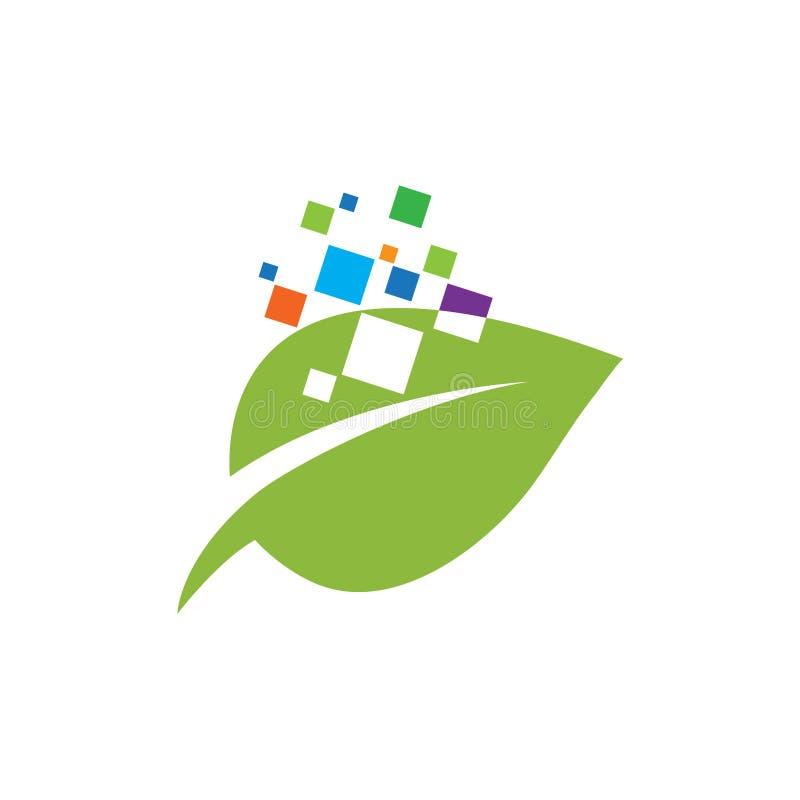 Green Technology logo designs concept, leaf technology logo design,. Nature Technology Logo. Creative Leaf Technology Logo Design Template. Leaf With Electronic stock illustration
