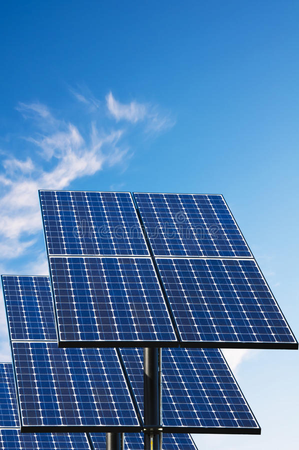 Green technology, solar panels. Green technology, solar panels for electricity production royalty free stock images