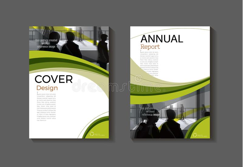 Green template book cover design modern cover abstract Brochure stock illustration