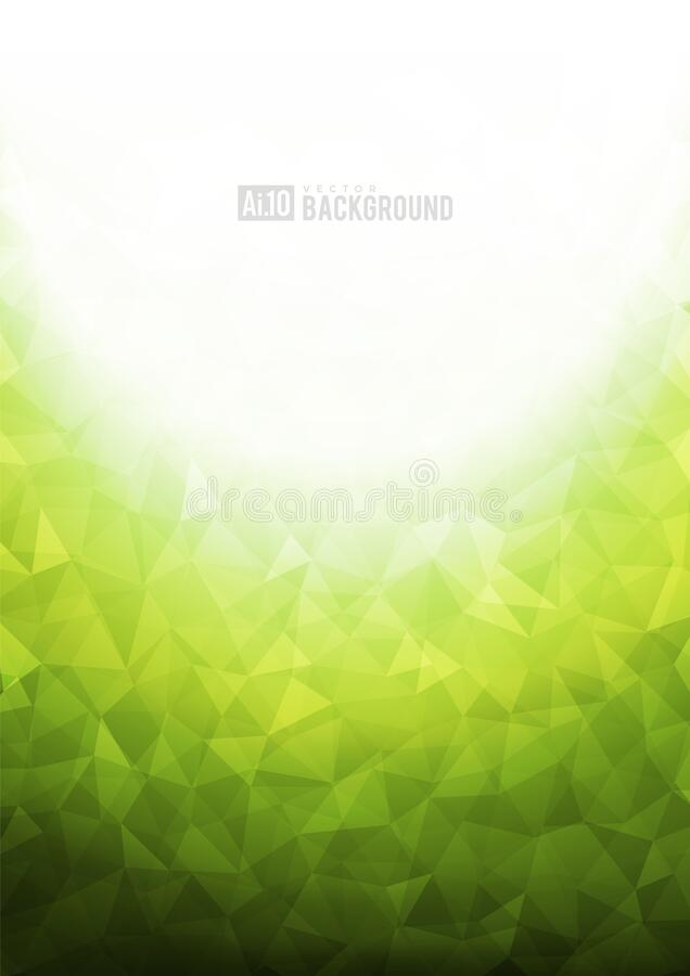Green texture background. Green texture background with geometric ice pattern vector illustration