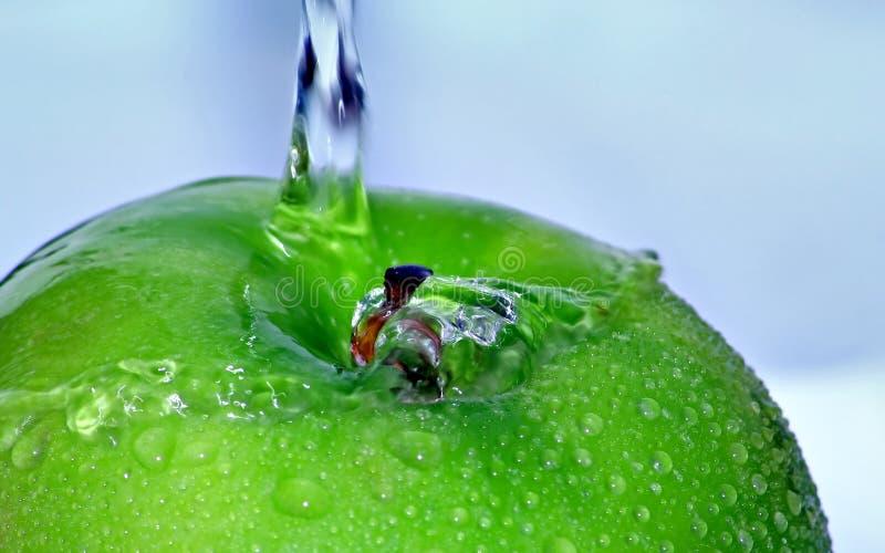 Green Textured Apple stock photo