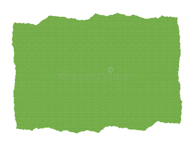 Download Green Textured Paper Ripped Stock Illustration - Illustration of ragged, blank: 4831683