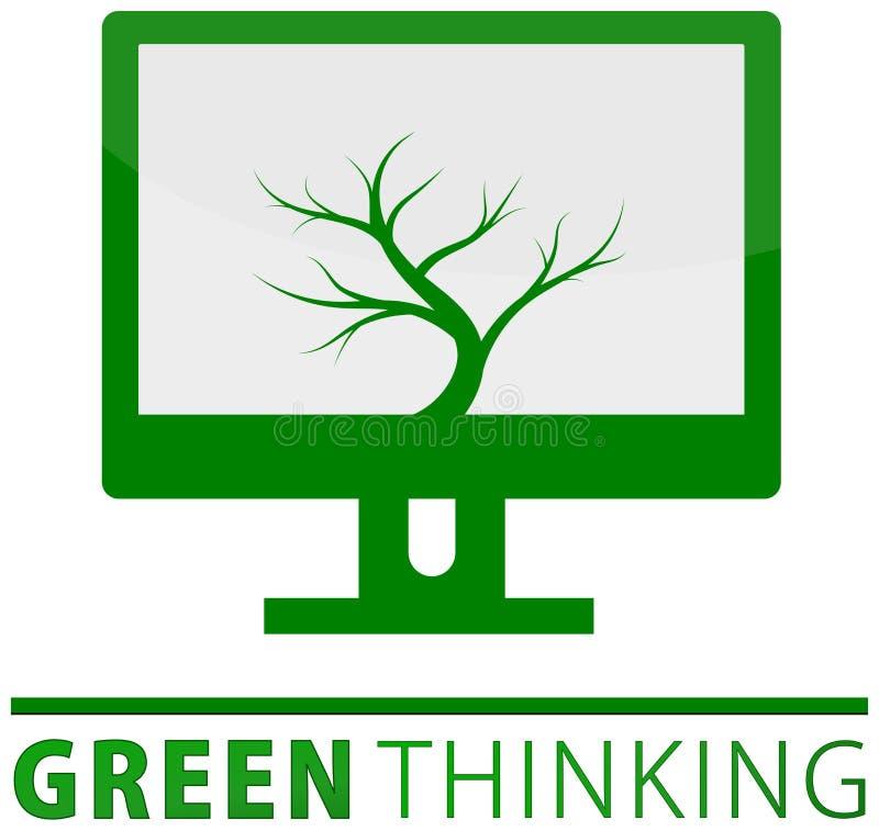 Green thinking concept vector illustration