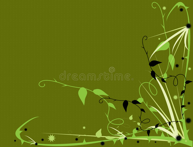 Green thorny floral stock illustration