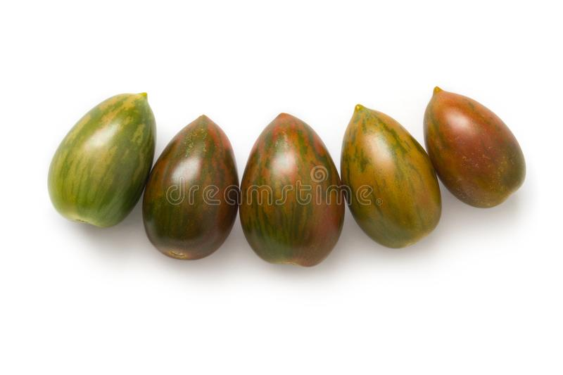 Green Tiger tomatoes royalty free stock photography