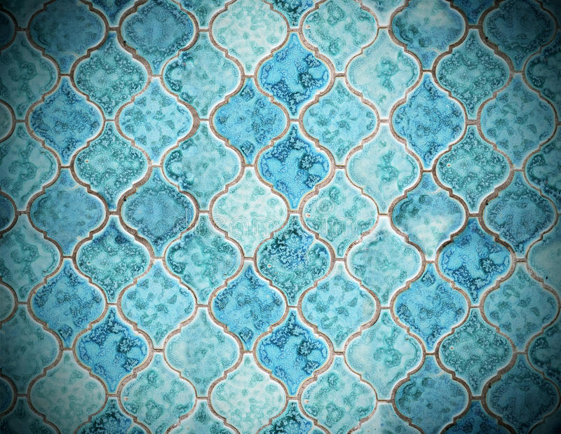 Green tile background. Dirty old green tile background with vignette stock image