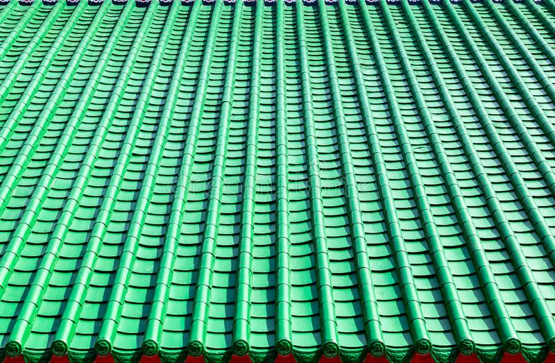 Green tile roof, chinese style royalty free stock photography