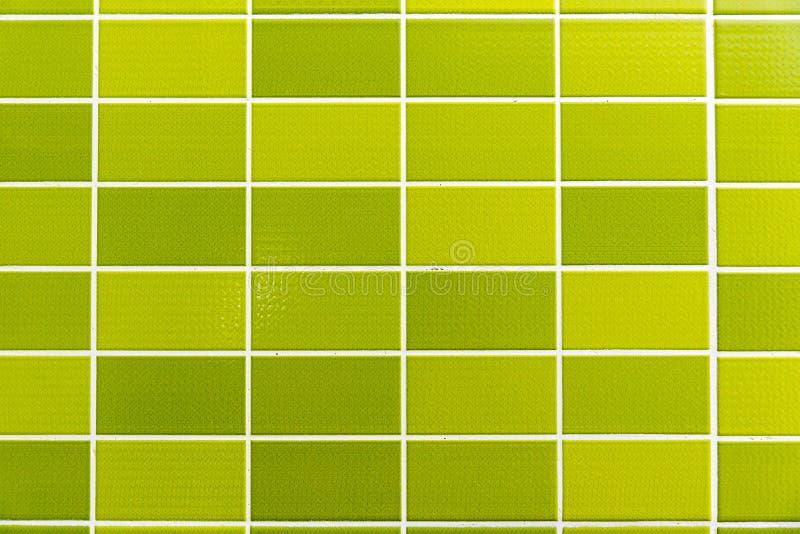 Green tiled background stock image