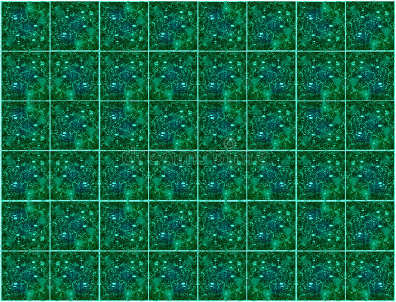 Green tiles stock photography