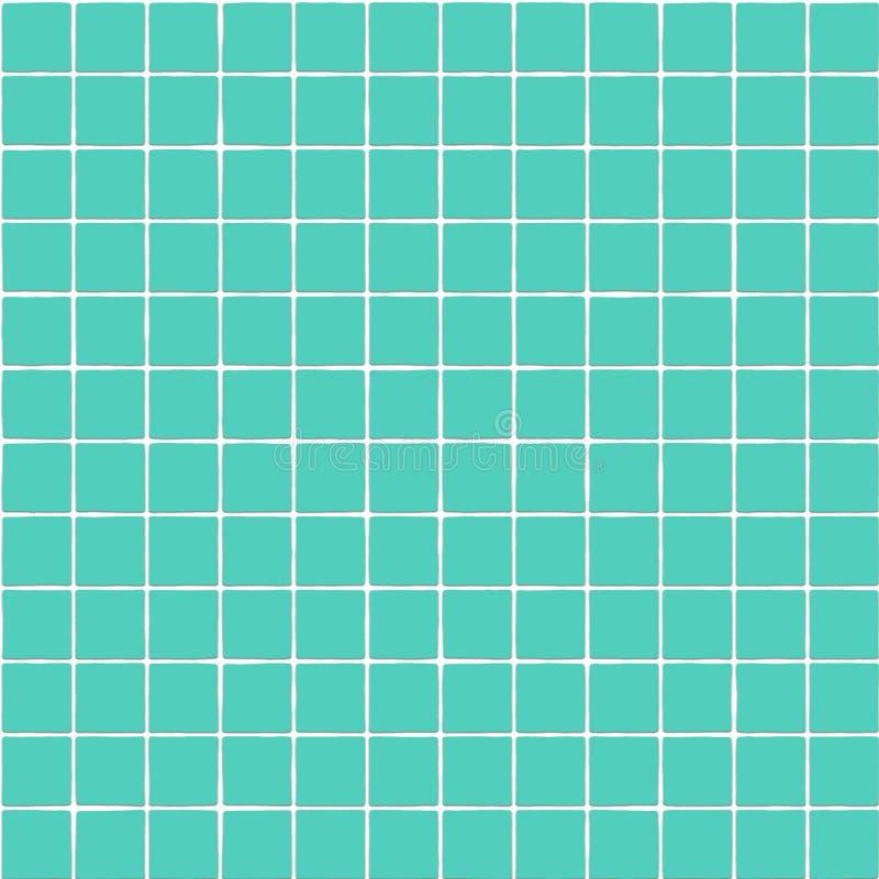 Green tiles texture. Green ceramic square tiles texture royalty free illustration