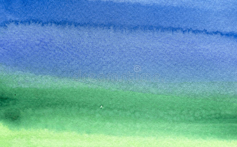 Download Green To Blue Watercolor Background Stock Image - Image: 10250951