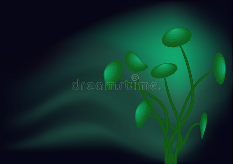 Green toadstools