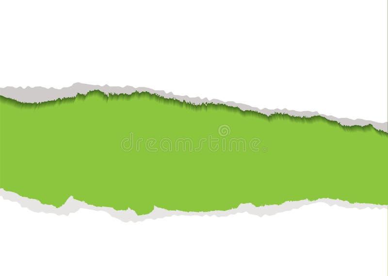 Green torn strip background royalty free illustration