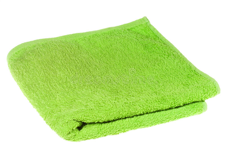 Green towel stock image