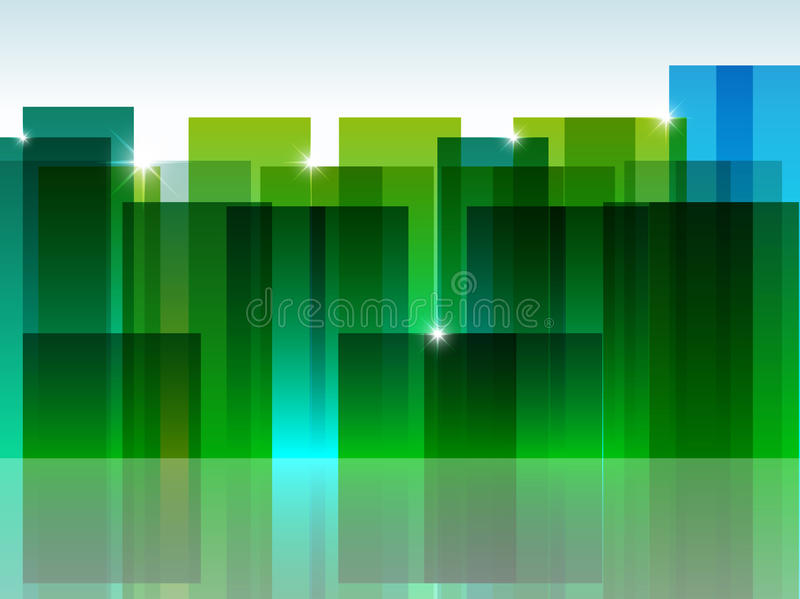 Green town royalty free stock image