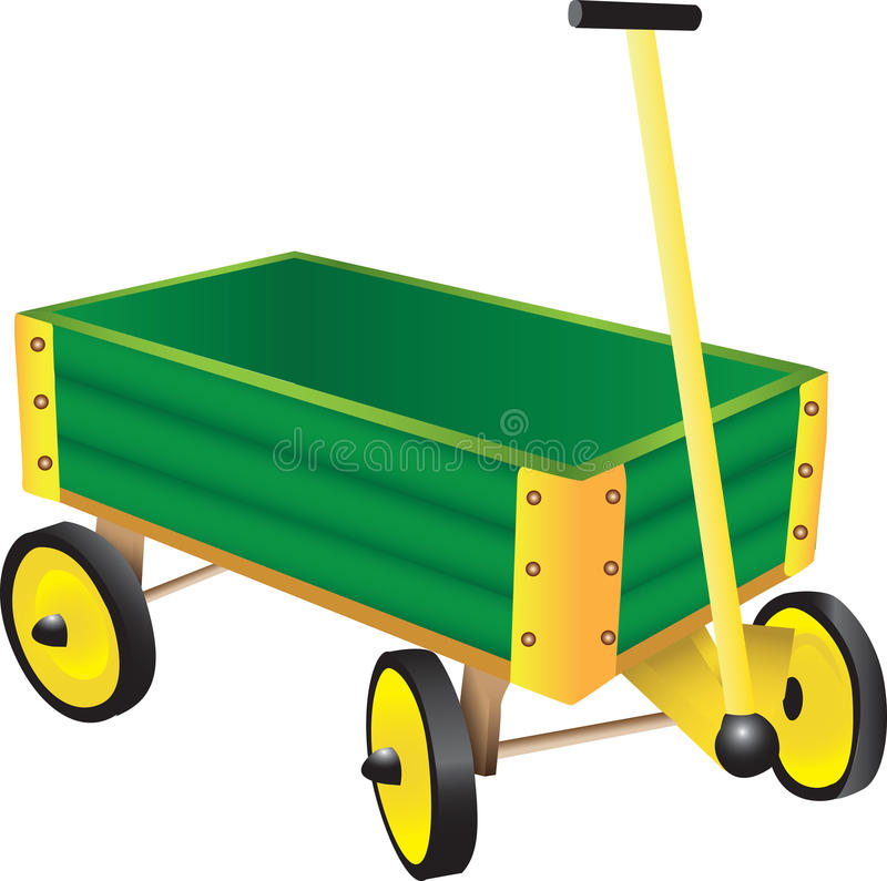 Green Toy Wagon royalty free illustration