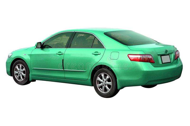 Green Toyota Camry 2008. 2008 model green Toyota Camry car isolated on white stock image