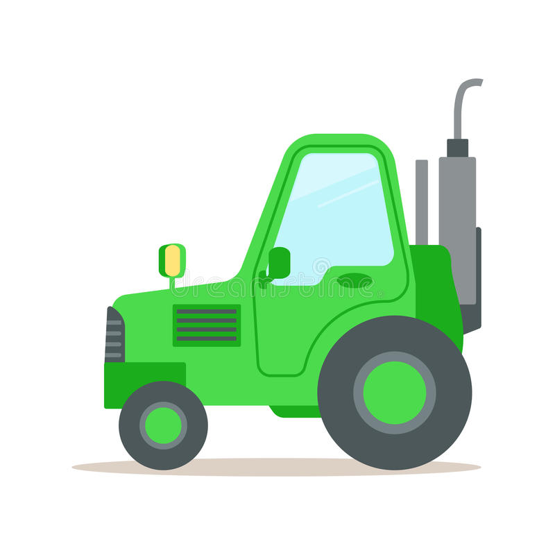 Up The Tractor Green Tractor With Bucket Cartoon : Green tractor heavy agricultural machinery colorful