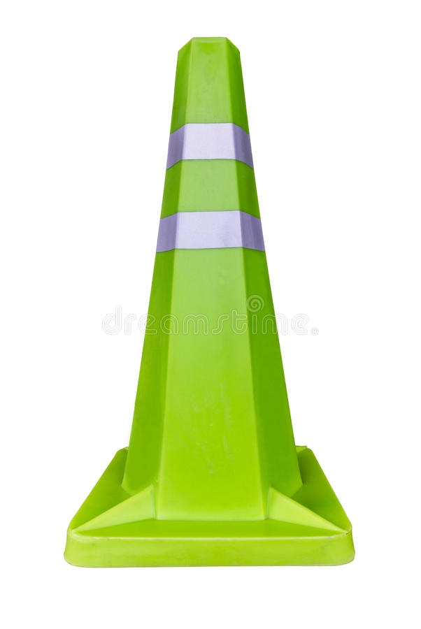 Download Green traffic cone stock photo. Image of construction - 34128922