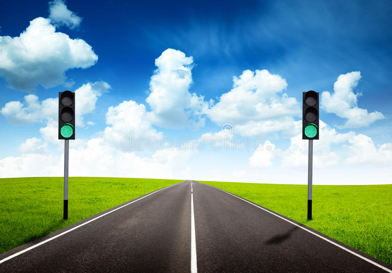 Download Green traffic light stock photo. Image of journey, drive - 10569792