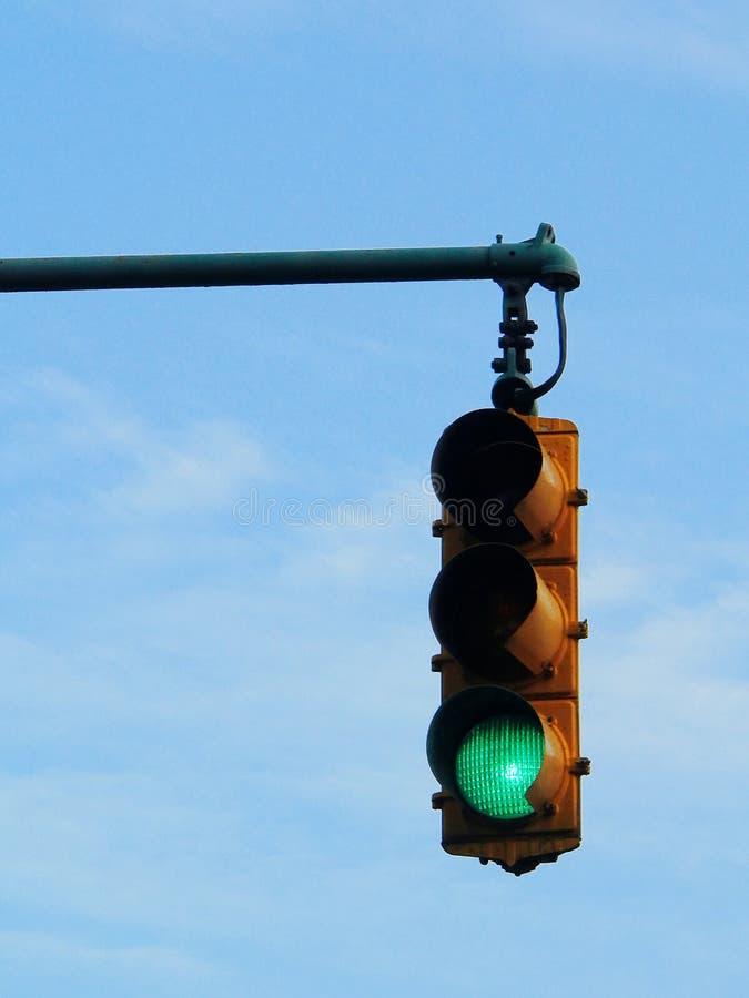 Green traffic light royalty free stock image