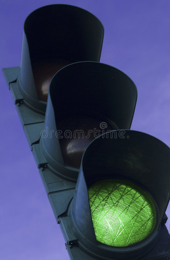 Download Green Traffic Light stock image. Image of city, lamp, intersection - 2154363