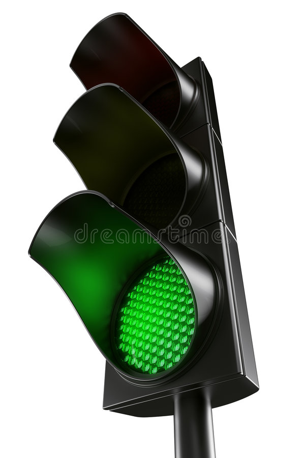 Green traffic light vector illustration