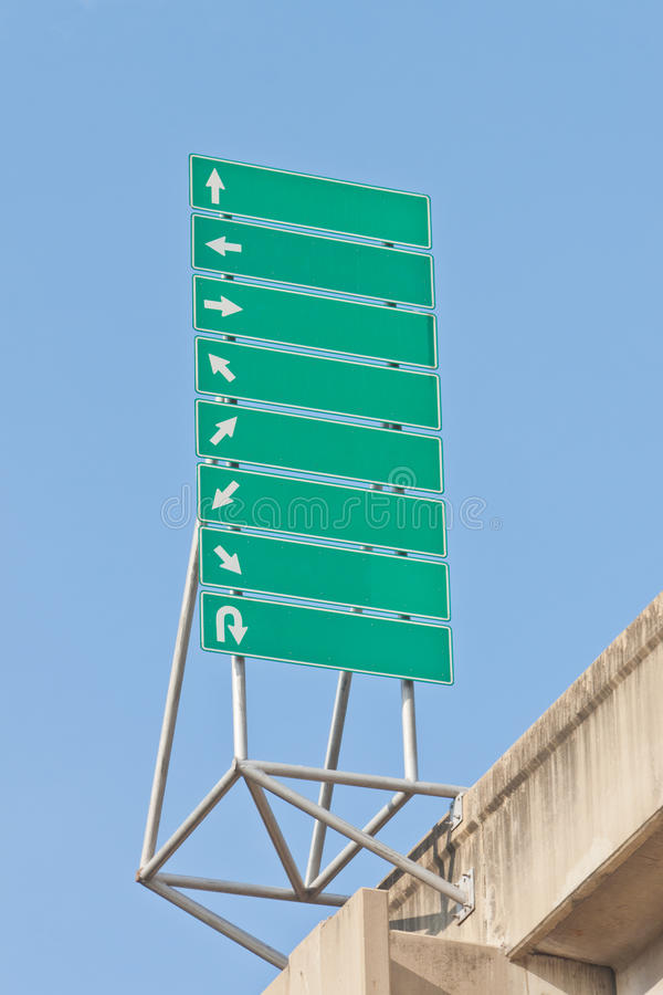 Green traffic signs stock images