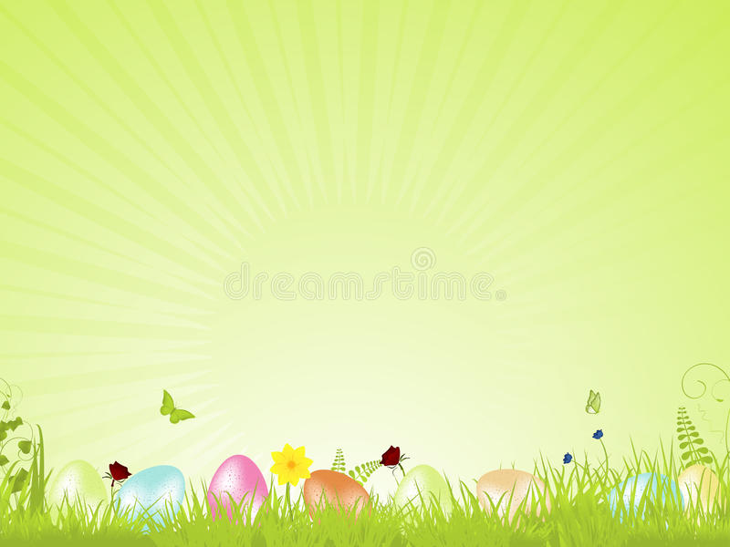 Download Green Tranquil Easter Background Stock Vector - Illustration of background, illustration: 20902187