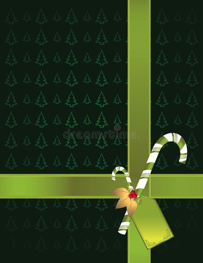Green tree background 2 vector illustration