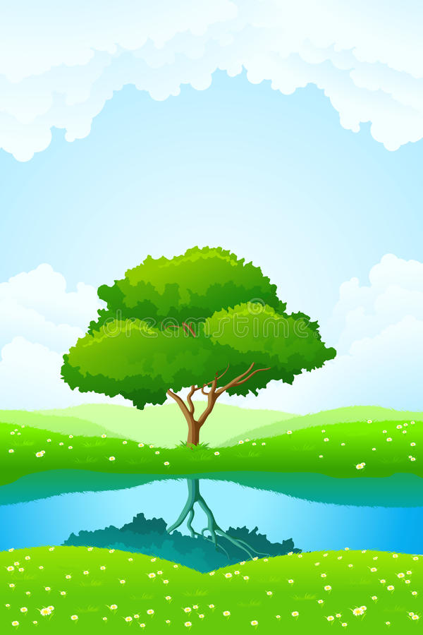 Green tree background stock images