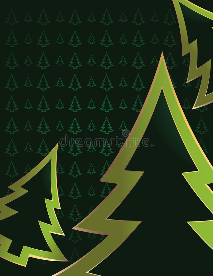 Green tree background 6 stock illustration