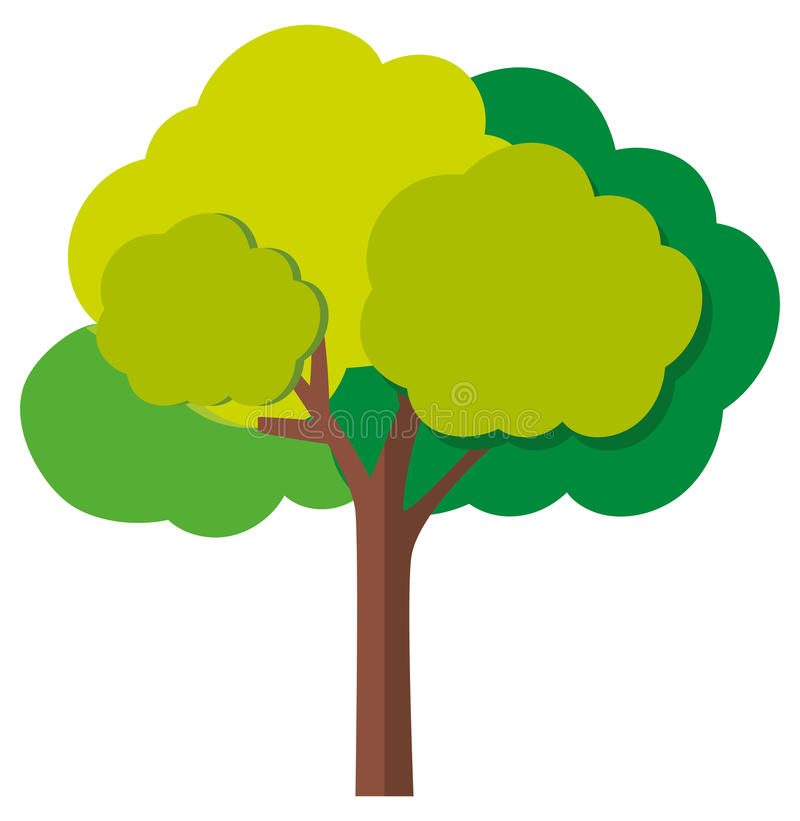 Green tree with branches royalty free illustration
