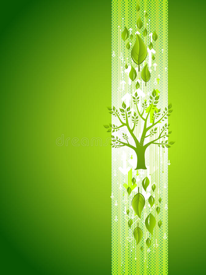 Green Tree Eco Background With Leafs Stock Photos